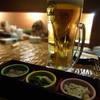 茜どき - ドリンク写真:ビールとお通し