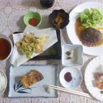 山崎旅館 - 夕食 汁物の鱈汁は後から来たので撮り忘れ