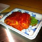和牛が旨い個室焼肉 楽月 - キムチは酸味が強い発酵白菜にヤンニョムを後付け
