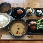 釜炊近江米 銀俵 - 大和芋とろろ定食