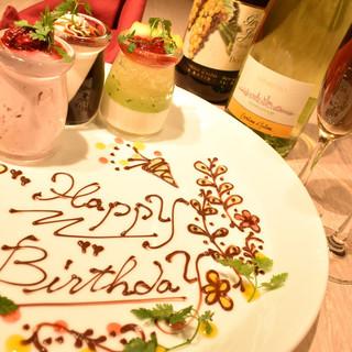 お誕生日&記念日にデザートプレートプレゼント!