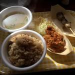草津かき小屋 - かき定食+かき串