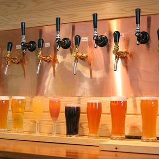 作りたてのビール各種を直接提供