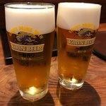 豆水楼 - 生ビールは一番搾り、648円。(内税)