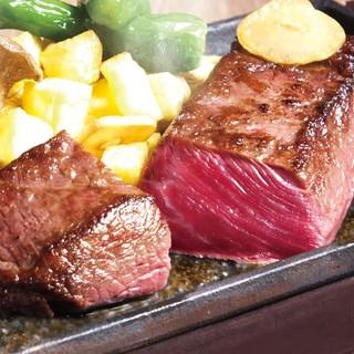 米沢牛・いわて短角和牛の希少部位をコースで。3240円〜