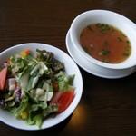 80114017 - ハンバーグランチ(サラダ&スープ)
