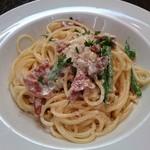 80115835 - Pasta 生ハムとインゲン豆のクリームソーススパゲティ