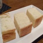 平塚バル SOLE - パン:パスタのスープにつけると美味しい