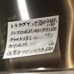 Sakanayahidezou - メニュー