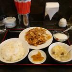 中華料理 大陸 - 豚肉四川風炒め定食