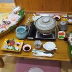 若竹 - クエ鍋会席(二人前)