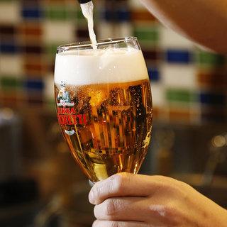 イタリアNO.1ビールモレッティーの生ビールが飲めます!