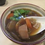 手打ち蕎麦 雷鳥 - 根菜類が美味しい「けんちん汁」