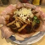 サバ6製麺所 - サバ醤油そば700円+肉増し200円