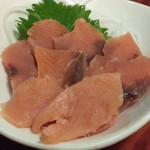 80138612 - 新巻鮭のお刺身680円