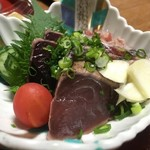 民宿 まさご - 料理写真:カツオのたたき 絶品!