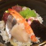 赤坂 すし 秀 - ミニ丼は海鮮丼を選択しました。