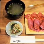 焼肉ここからR - 焼肉定食 ナムルにスープ付き
