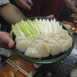 大木屋 - ホタテとネギのバター醤油焼き