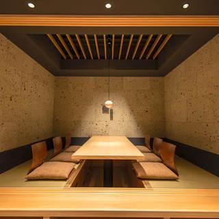 《個室完備》木の温もり溢れる上質な和空間で寛ぎのひとときを