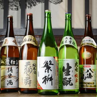 ○日本酒・焼酎○料理の味を引き立てるお酒が充実!