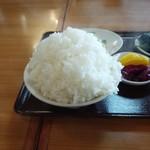 中華の永楽 - ご飯(大盛り)