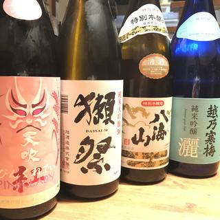 日本酒・焼酎にこだわりあり!種類豊富なドリンクメニュー