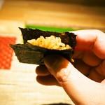 シャンパン&ワインと熟成鮨 Rikyu - 最初に酢飯のみ