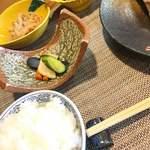 80154146 - ご飯、タラコン、漬物