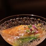 Yamagishi - 大分赤貝とジュレ酢、京都若水菜