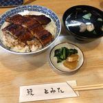 鰻 とみた - 料理写真:上うなぎ丼(肝吸い付き) 2,600円