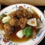 香亭 - 酢豚アップ