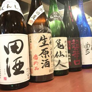 旨い魚に、旨い酒。こだわりの日本酒。