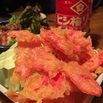 大阪ダイニング ナンノ - 紅生姜の天ぷら。こってり。しょっぱい。