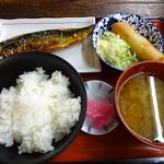 酒蔵 厚岸 - 日替わり定食(サバ塩焼き)