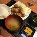 Uotami - 唐揚げ定食750円