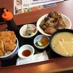 80167326 - そうま 漁師の昼飯990円+アラ汁100円増し(税抜)