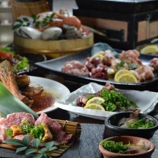 山屋の厳選食材を贅沢に食す炭火焼き宴会