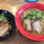 小豆島ラーメンHISHIO 小豆島エンジェルロード店 - 醤ラーメン、醤丼ミニのセット  950円(税込)