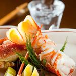 鉄板焼と和食 宴 - 伊勢海老を鉄板でバター焼きに。ぷりぷりの身が◎