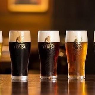 コースに+500円で【ヱビス3種類のビールも飲み放題!】