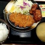 80172077 - ロースかつ&唐揚げ定食