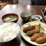金時食堂 - カキフライ定食740円(2018.1.30)