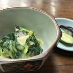 金時食堂 - いかと分葱のヌタ(2818.1.30)