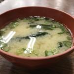 金時食堂 - 豆腐とわかめの味噌汁(2018.1.30)
