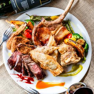 牛・豚・鶏はもちろんラム・鴨やジビエも味わえる絶品肉料理