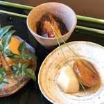 蕎麦 おおつか - 小鉢三品