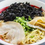 東京発祥豚骨ラーメン 哲麺縁 - ニュー「ど煮干しラーメン」 ちじれ麺でボリュームも満点です。3月いっぱいで終了します。お早目に!