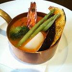 西洋小料理 葡萄家 - 海老と帆立貝のアメリカンソース