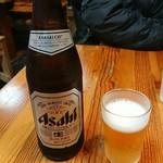 そば茶屋なべしま - 瓶ビール(アサヒ)